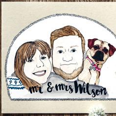 Family Portrait Card Gift