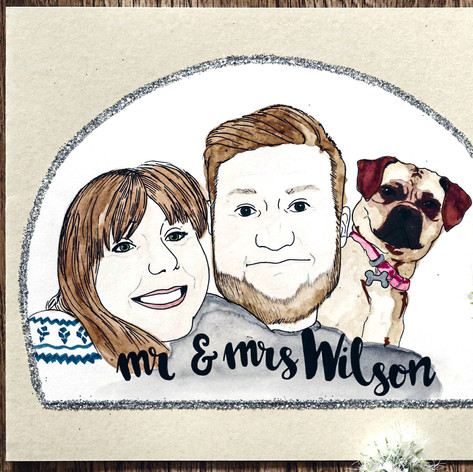 Family Portrait Card Gift