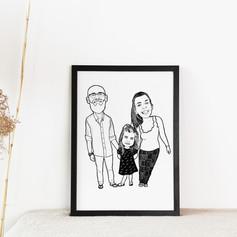 Minimalistic Ink Family Portrait