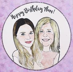 Birthday Portrait Card for Mum