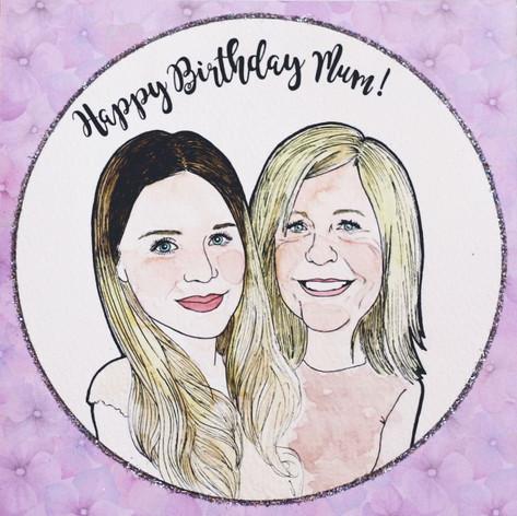 Birthday Portrait Card