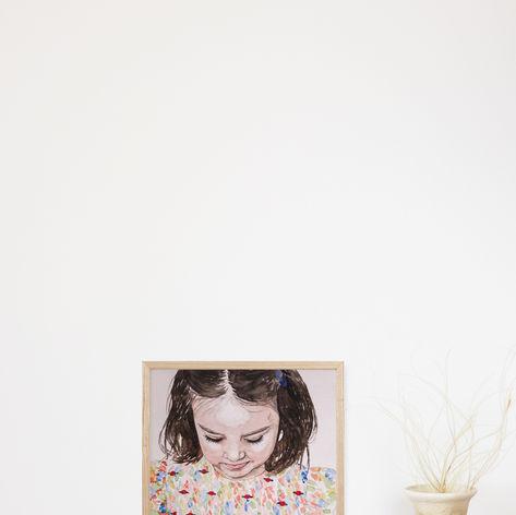 Little Girl Watercolour Portrait