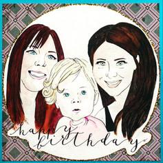 Happy Birthday Family Card