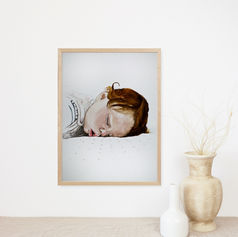 Sleeping Baby Girl Portrait