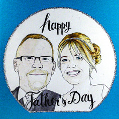 Happy Father's Day Portrait Card