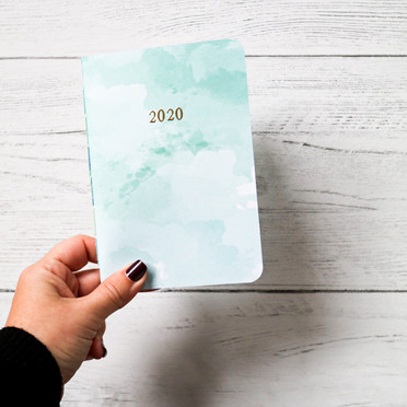 A6 size Monthly view 2020 Planner