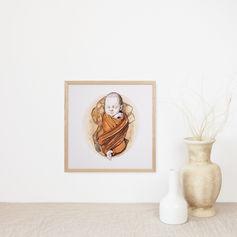 Newborn Watercolour Portrait