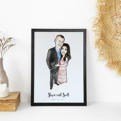Couple Engagement Illustration