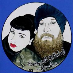 Birthday Portrait Card for Boyfriend/Husband
