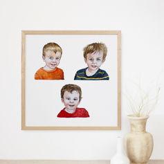 Watercolour Portrait for Grandparents