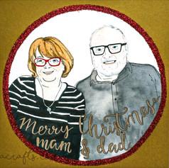 Merry Christmas Portrait Card