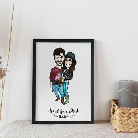 Couple Portrait Wedding Gift