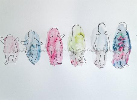 Watercolour Silhouette Portraits for Kids