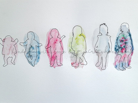 Watercolour Silhouette Portraits for Kids