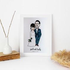 Wedding Anniversary Illustration
