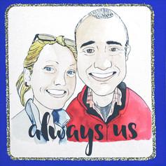Couple Portrait Card