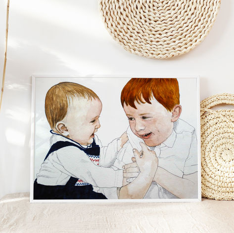 Large Format Siblings Portrait
