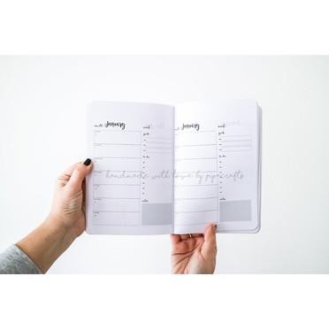 2021 Weekly Planner, Undated Weekly view Planner, 52 Week Diary with weekly view