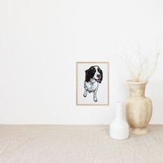 Dog Portrait in Watercolour