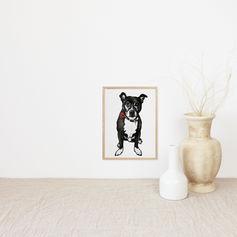 Dog Watercolour Illustration