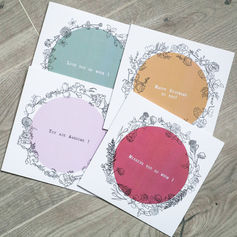 Bundle of 4 Positivity Greeting Cards