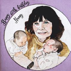 Happy 60th Birthday Portrait Card