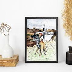 Dog Portrait with Background
