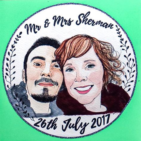 Wedding Gift Portrait Card