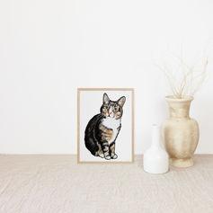 Cute Fluffy Cat Portrait