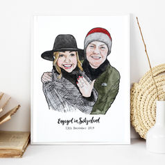 Engagement Portrait Illustration
