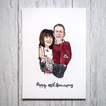 Anniversary Portrait Illustration