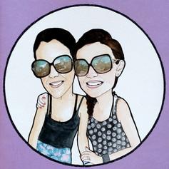 Birthday Portrait Card for Friends