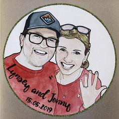Engagement Portrait Card