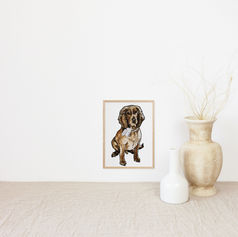 Dog Portrait Christmas Gift