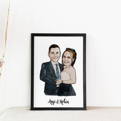 Couple Engagement Illustrationon