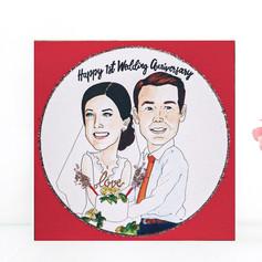 Wedding Anniversary Portrait Card