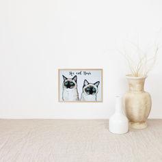 Two Kitties Watercolour Portrait