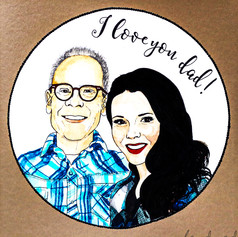 Portrait Card for Dad