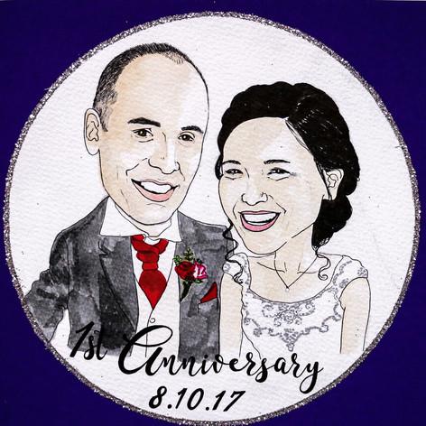 Anniversary Portrait Card