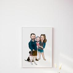 Family Watercolour Illustration