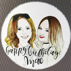 Birthday Portrait Card for Friend