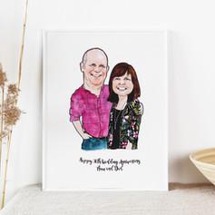 Happy 30th Wedding Anniversary Portrait
