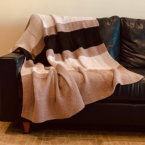 Shades of Burgundy Throw Blanket