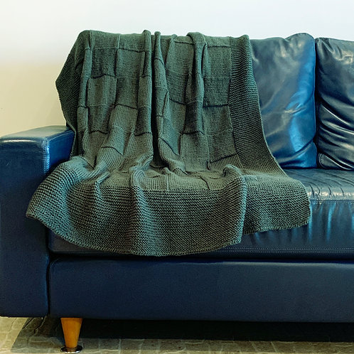 Olive Forest Green Throw Blanket