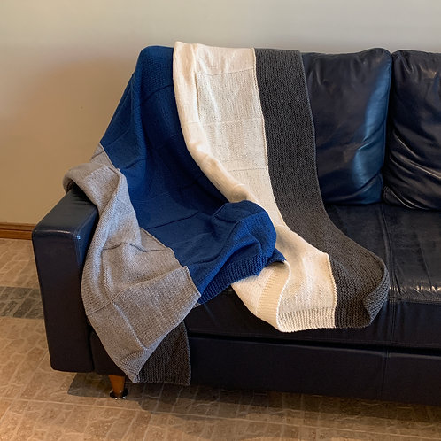 Cool Blues Throw Blanket