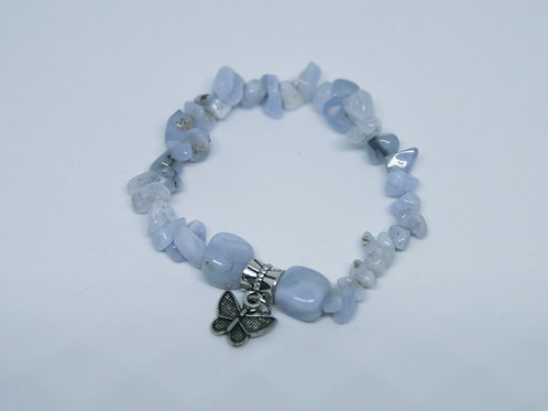 Blue Lace Agate Extra Small Butterfly Bracelet