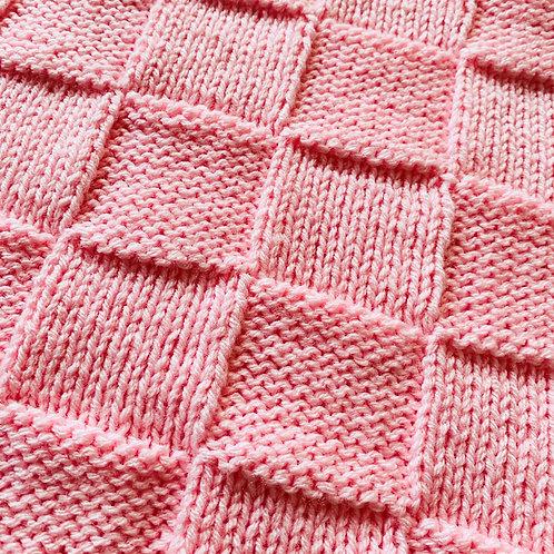 Pastel Pink Baby Blanket
