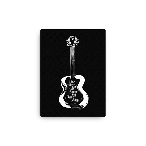 Guitar Heart Strings Canvas