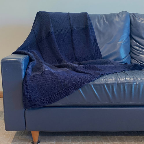 Navy Blue Dream Throw Blanket