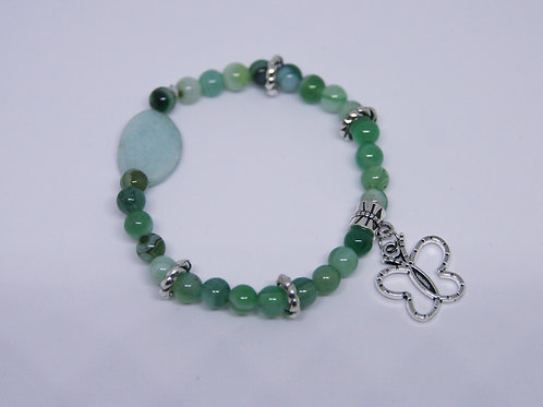 Amazonite and Aquamarine Agate Bracelet